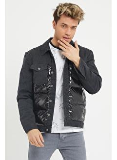 Viking Jeans Kapitoneli Şişme Kot Ceket